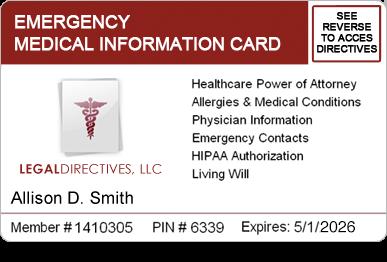 legal directives medical access program